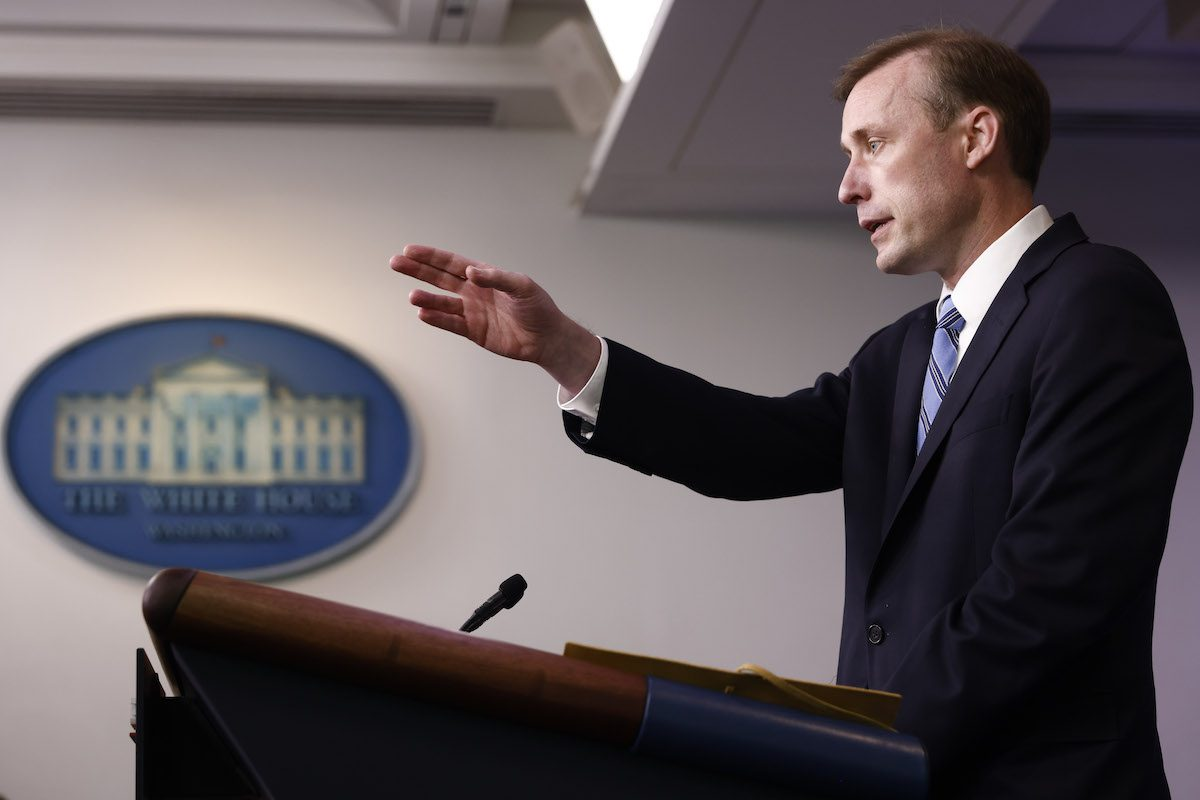 Jake Sullivan, White House national security adviser, speaks during a news conference in the James S. Brady Press Briefing Room at the White House in Washington, D.C., U.S., on Monday, Aug. 23, 2021. [Ting Shen/Bloomberg via Getty Images]
