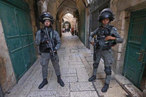 Israeli security forces stand guard in the alleys of Jerusalem's Old City, on September 10, 2021 [EMMANUEL DUNAND/AFP via Getty Images]