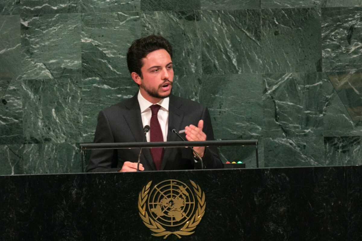 Jordan's Crown Prince Al Hussein bin Abdullah II addresses the U.N. General Assembly at the United Nations on September 21, 2017 in New York, New York [Kevin Hagen/Getty Images]