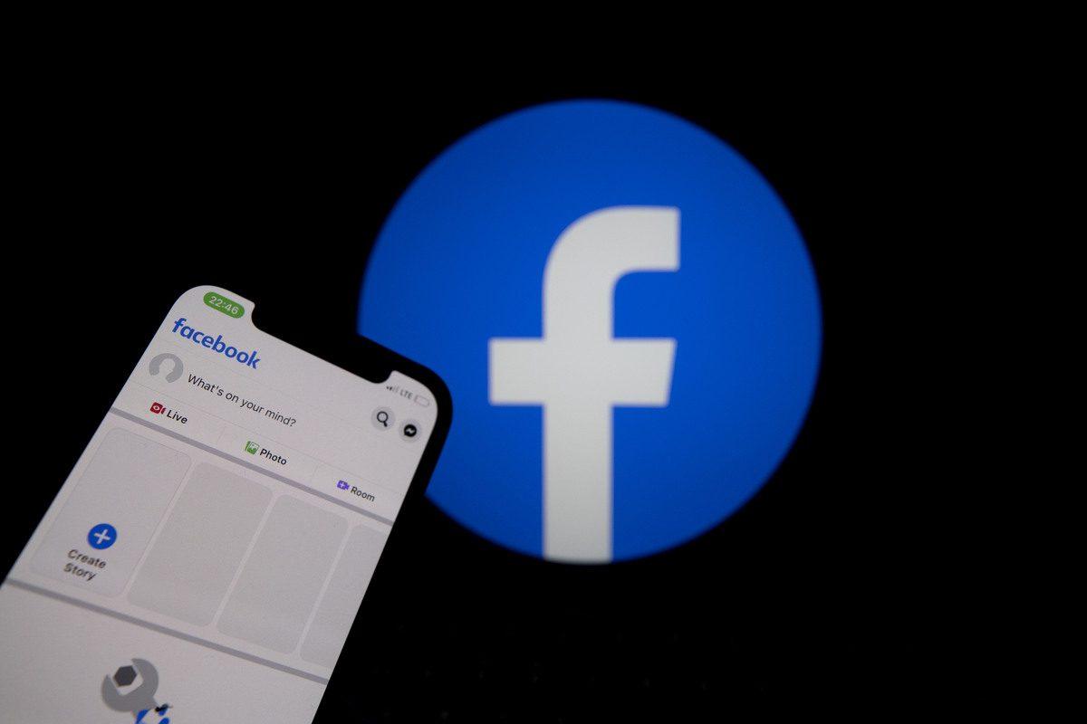In this photo illustration social media application Facebook is seen on a smart phone screen on October 4, 2021 [Erçin Ertürk/Anadolu Agency]