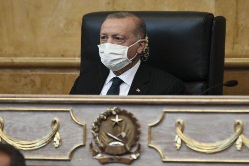 Turkish President Recep Tayyip Erdogan on October 18, 2021 [Doğukan Keskinkılıç/Anadolu Agency]