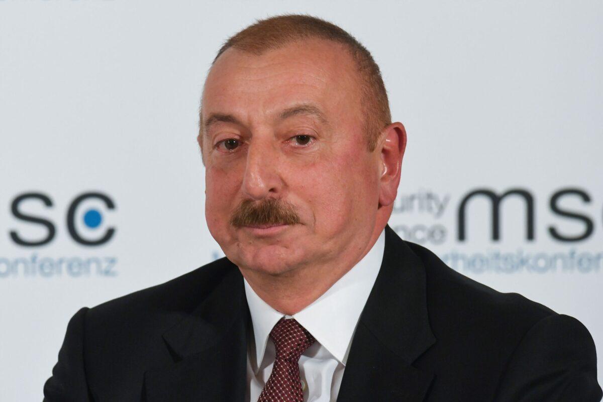 Azerbaijan's President Ilham Aliyev on February 15, 2020 [CHRISTOF STACHE/AFP via Getty Images]