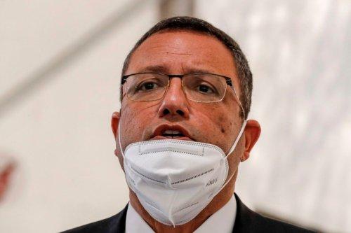 Moshe Lion, Mayor of Jerusalem in Israeli-annexed East Jerusalem on April 2, 2020 [AHMAD GHARABLI/AFP via Getty Images]