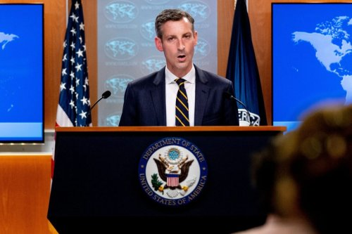 US State Department spokesman Ned Price in Washington, DC, on August 18, 2021 [ANDREW HARNIK/POOL/AFP via Getty Images]