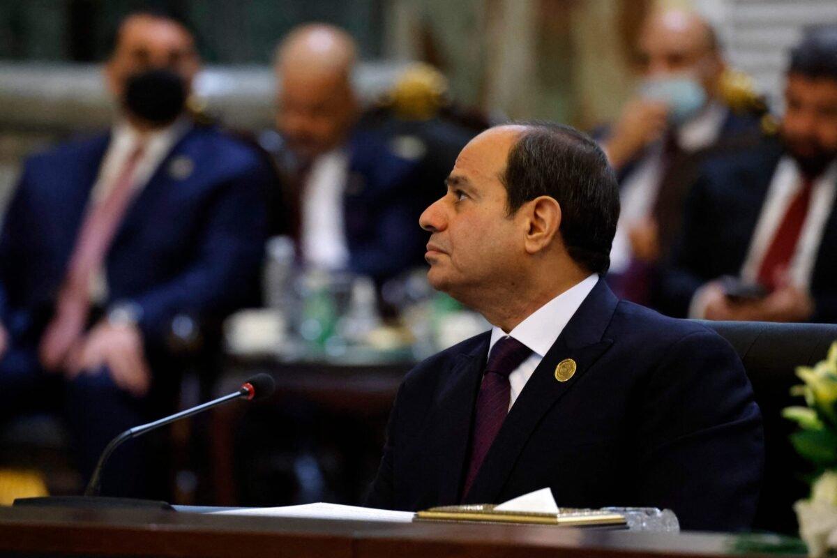 Egypt's President Abdel Fattah al-Sisi on August 28, 2021 [LUDOVIC MARIN/AFP via Getty Images]