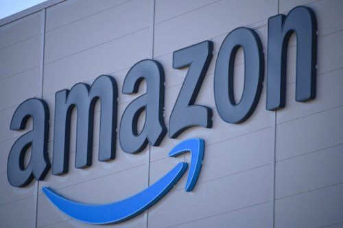 The US giant Amazon logo [SEBASTIEN BOZON/AFP via Getty Images]