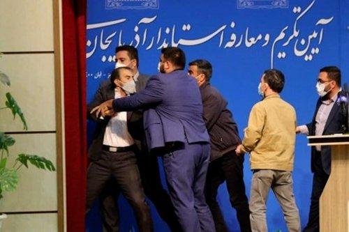 thumbnail - Iran governor gets slapped during inauguration