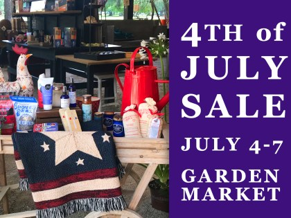 4th of July Sale in the Garden Market