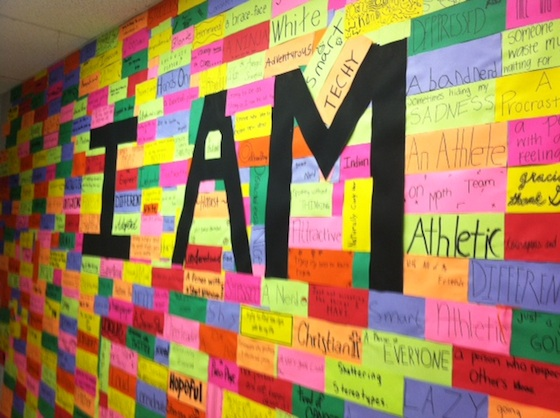 Rejecting Stereotypes Students Describe I AM Wall Project