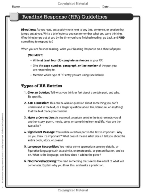 small resolution of 5 Reading Response Activities to Invite Higher Thinking