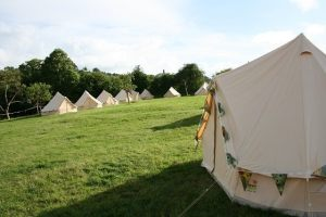 Glastonbury Festival tents at Middlewick