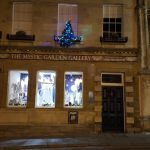 Christmas on glastonbury high street
