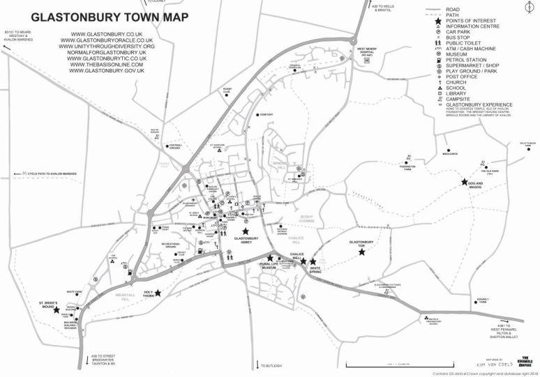 Glastonbury map