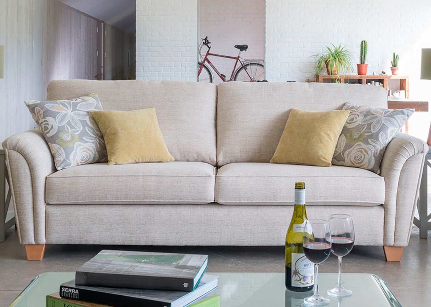 barcelona sofa uk 2 seat reclining with console madrid large midfurn furniture superstore