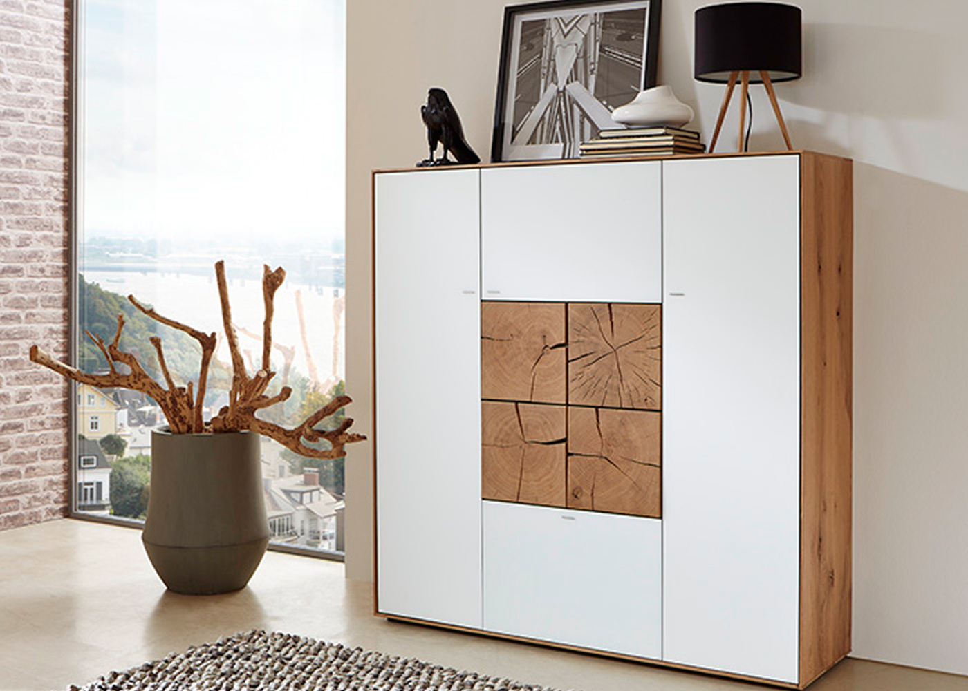 corner storage unit living room cheap ideas apartment hartmann caya highboard - midfurn furniture superstore