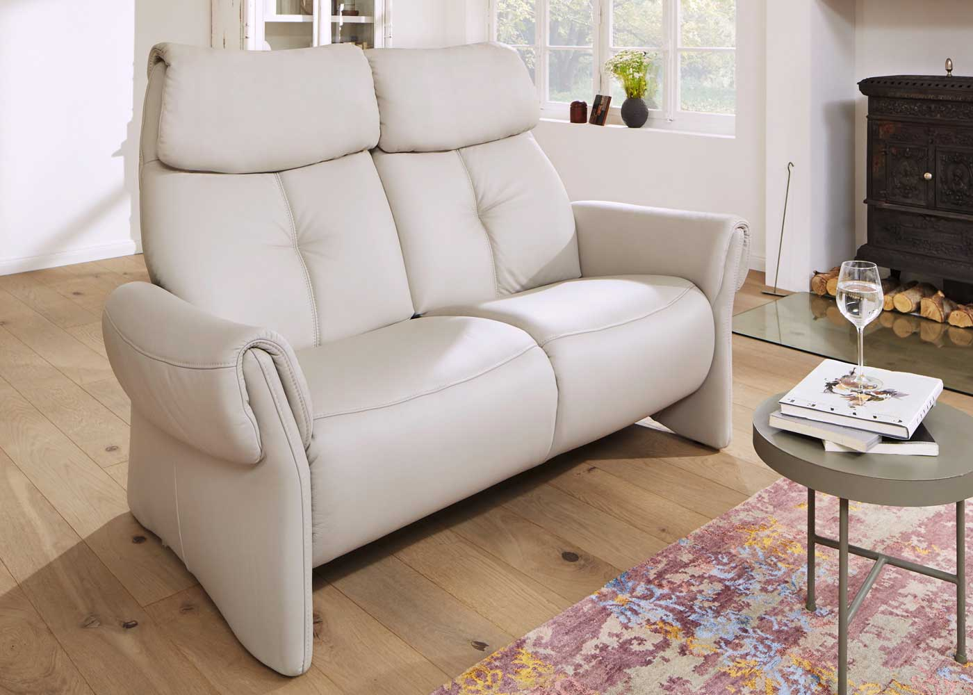 leather corner sofa with electric recliner rustic uk himolla cologne - midfurn furniture superstore