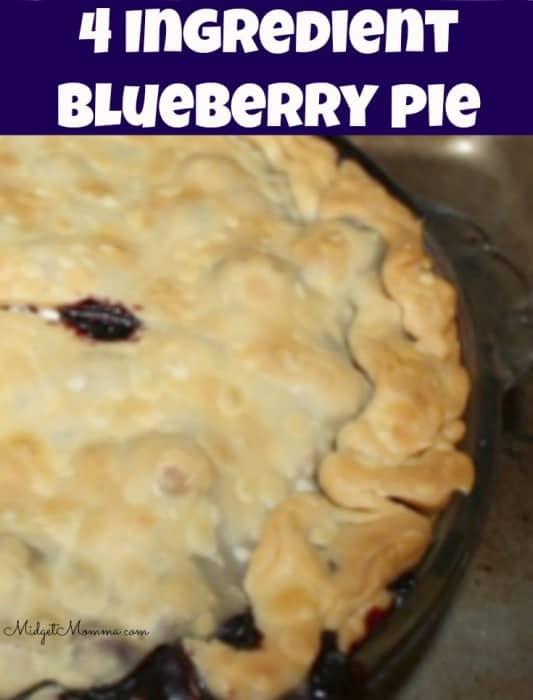 4 Ingredient Blueberry Pie