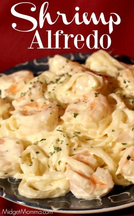 Shrimp Alfredo With Homemade Alfredo Midgetmomma