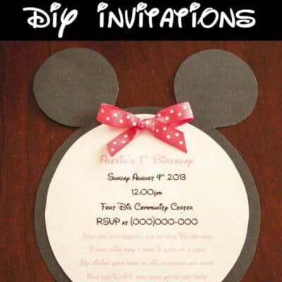 DIY Minnie Mouse Invitations