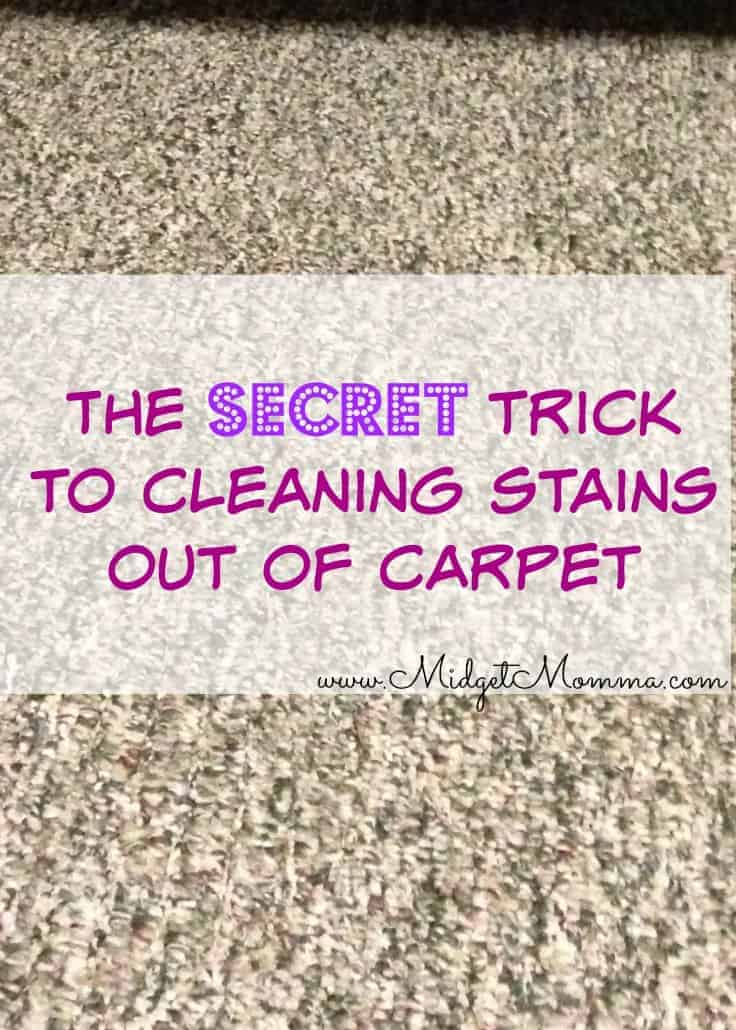 Secret to getting Stains out of Carpet