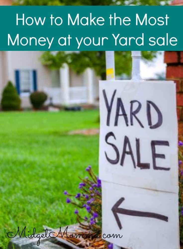 How to Make the Most Money at Your Yard Sale