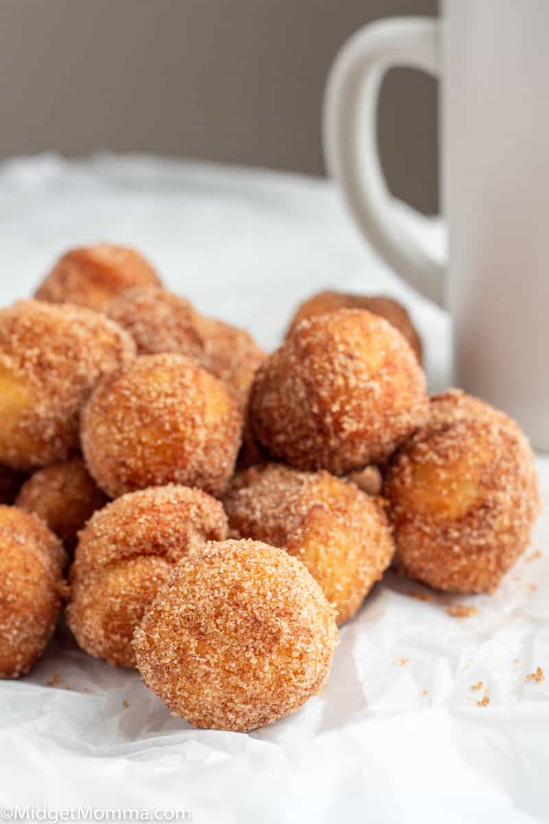 Pile of Cinnamon Sugar Donut holes