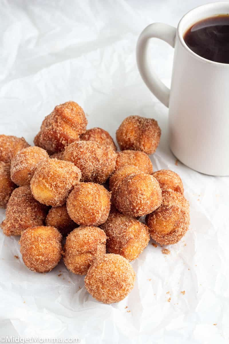 Easy Cinnamon and sugar donuts on a plate