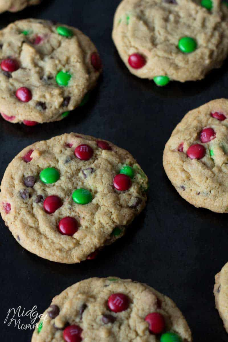 Chocolate Chip MMs Christmas Cookies