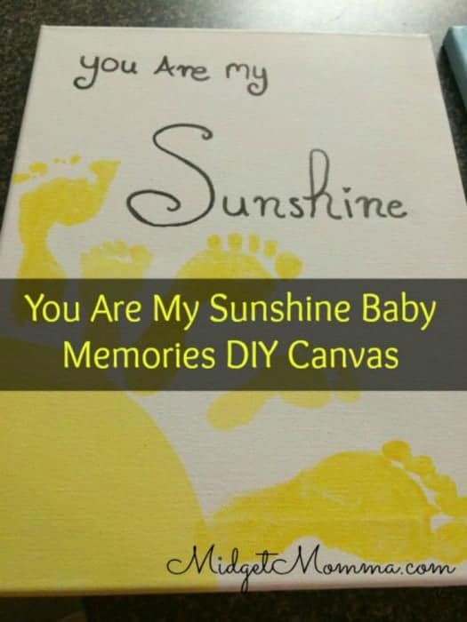 You Are My Sunshine Baby Memories DIY Canvas
