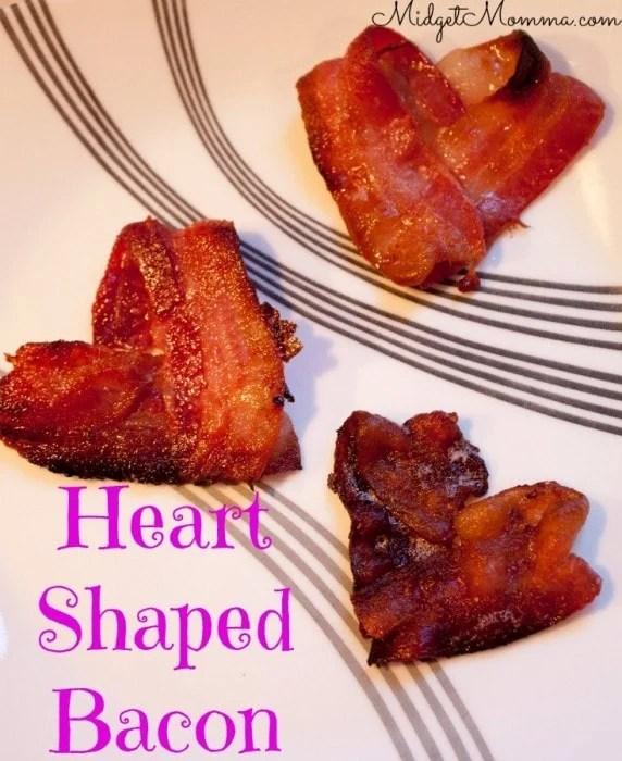 Heart Shaped Bacon  Valentines Day Menu Ideas