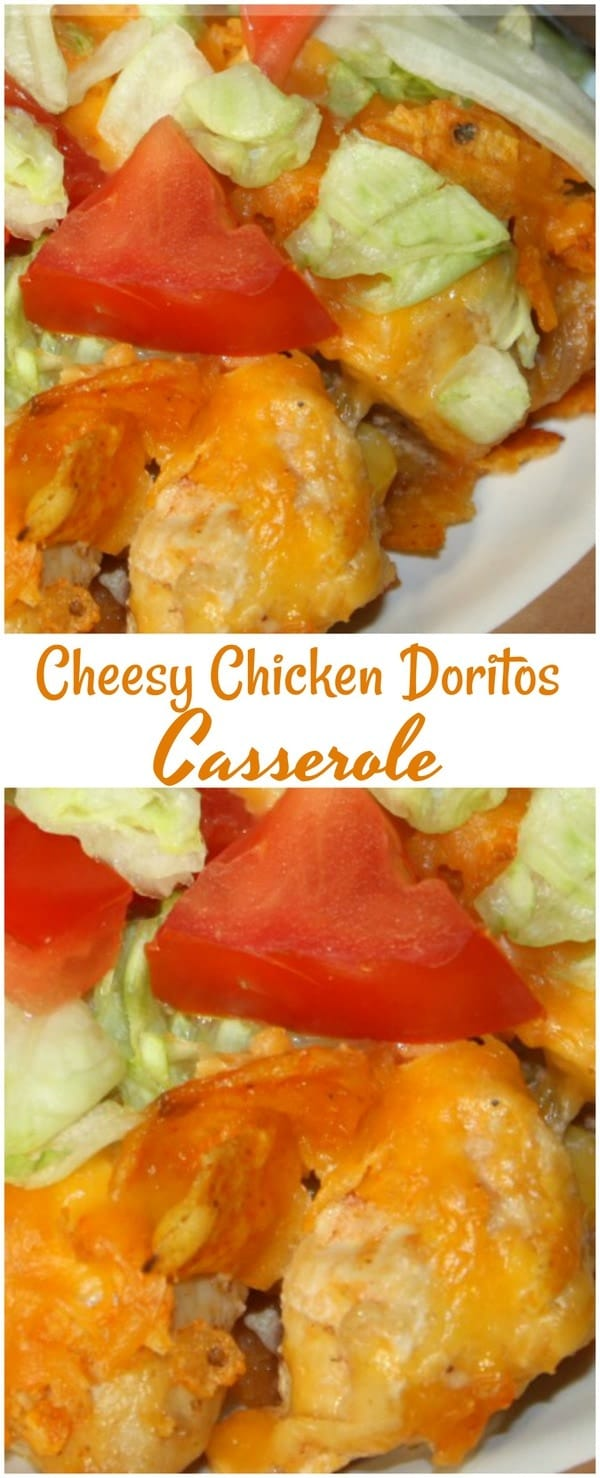 Easy Cheesy Chicken Doritos Taco Casserole