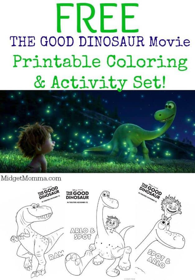 THE GOOD DINOSAUR Movie Printable Coloring Amp Activity Sheets