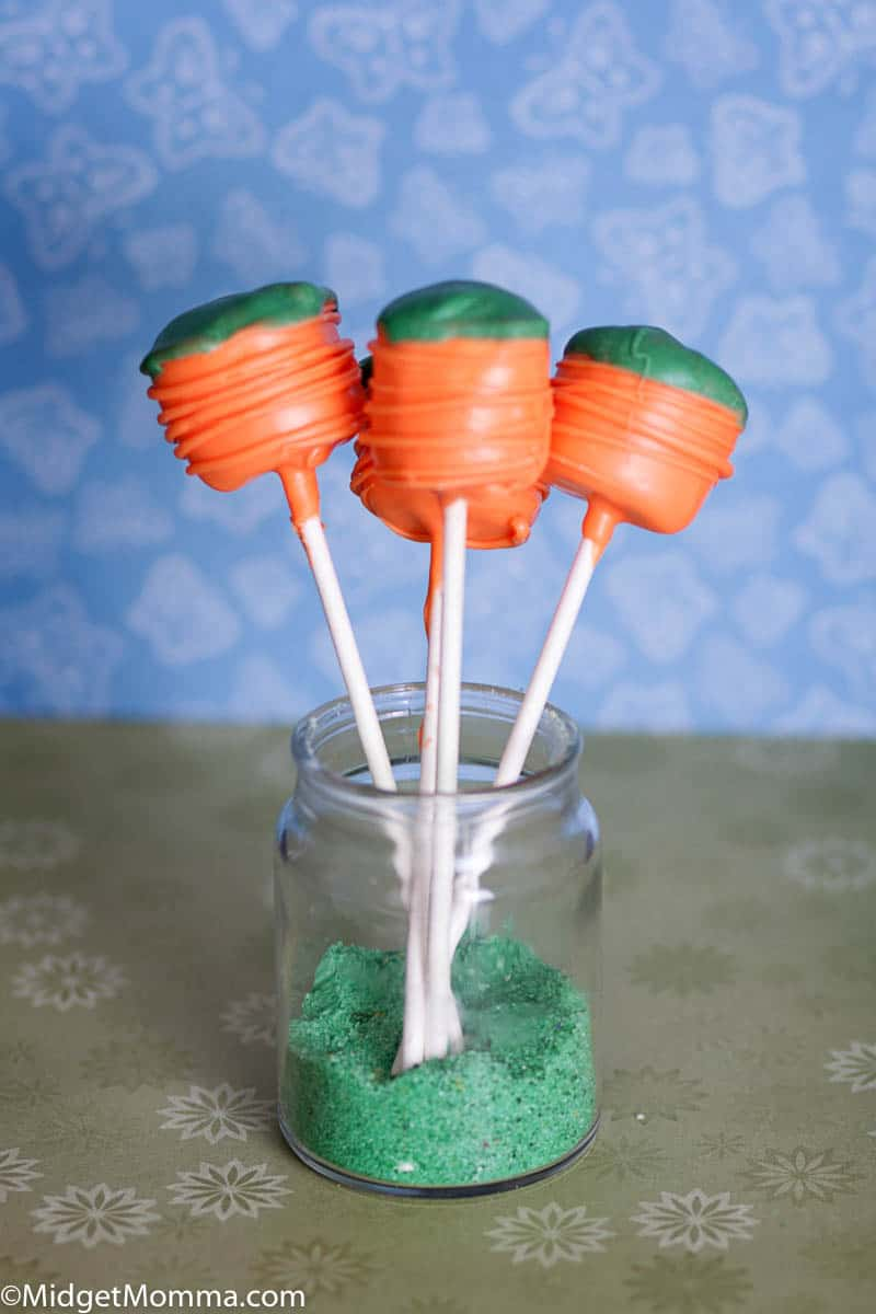 Carrot Marshmallow Pops