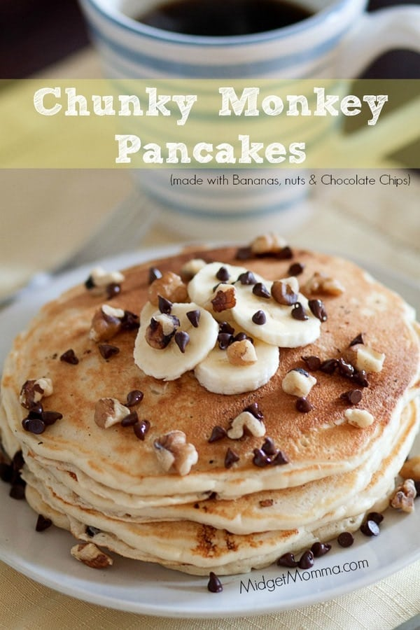 kitchen needs full chunky monkey pancakes • midgetmomma