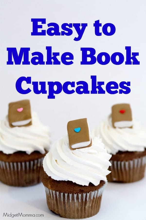 Book Cupcake Homemade Cupcakes With Fondant Books