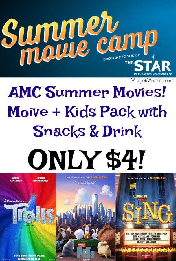 Amc Summer Movies Movie Amp Snack Pack For 4 Midgetmomma