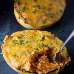 Kitchen Deco Island White Chicken Enchilada Spaghetti Squash • Midgetmomma