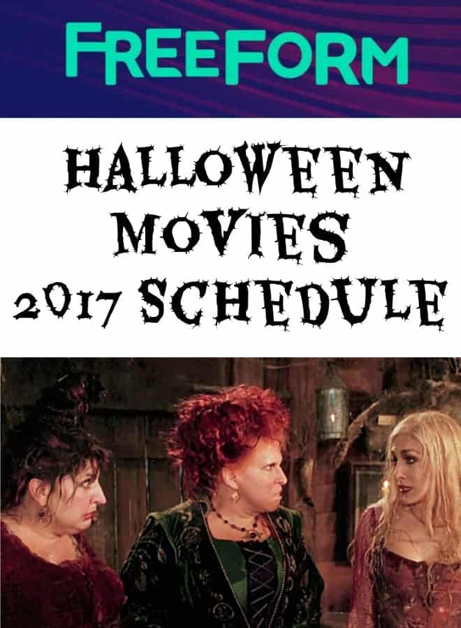 FreeForm Halloween Movies 2017 Schedule  MidgetMomma