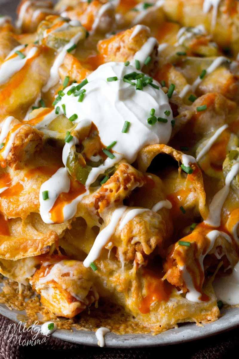 hot chicken nachos