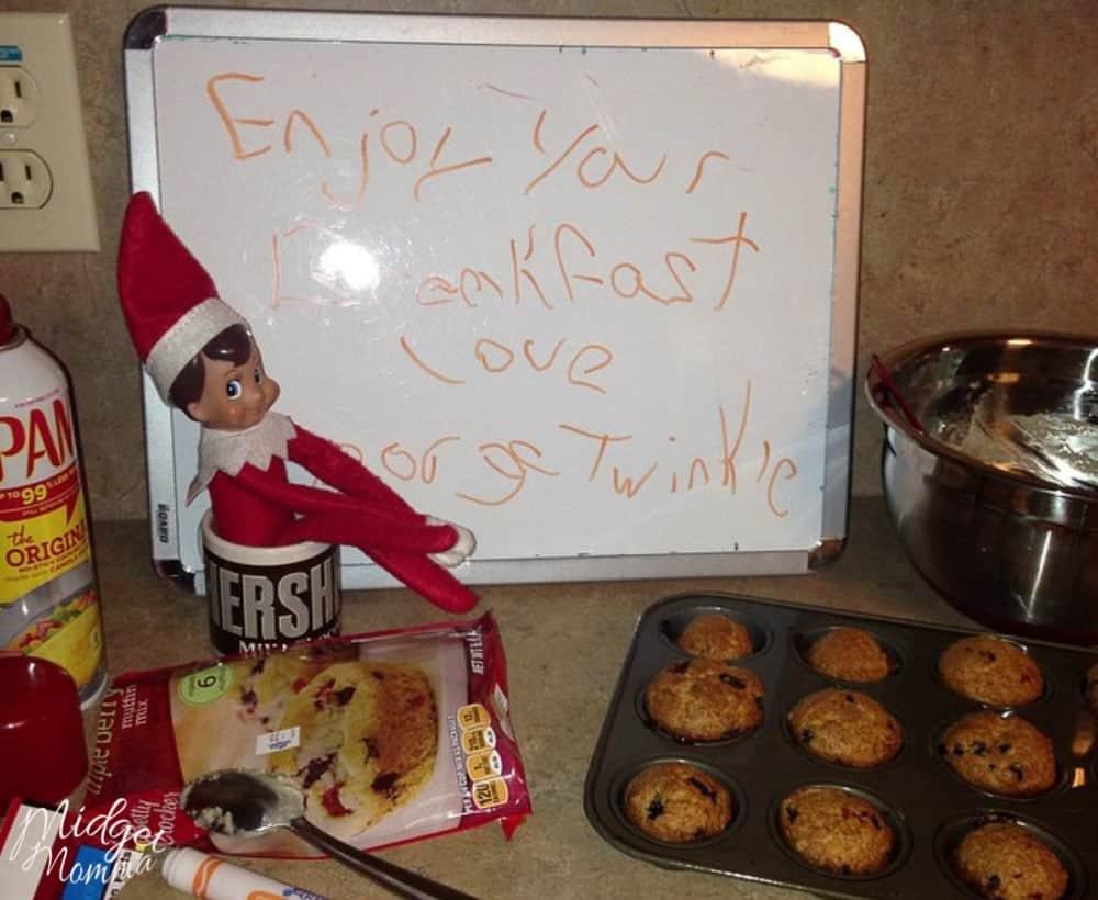 Easy  Fun Elf on the Shelf Kitchen Ideas Kids will love