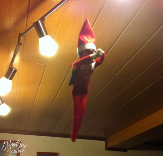 How to Make Elf on The Shelf Fly Using Fishing Line
