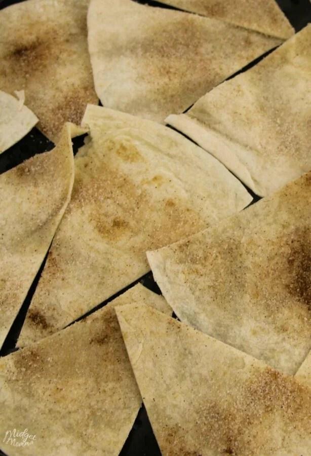 Baked Cinnamon Sugar Tortilla Chip