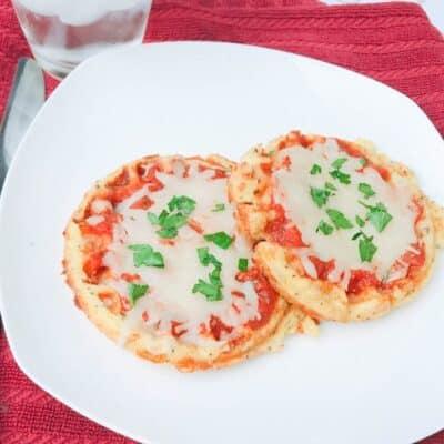 Mini Keto Pizza on a plate