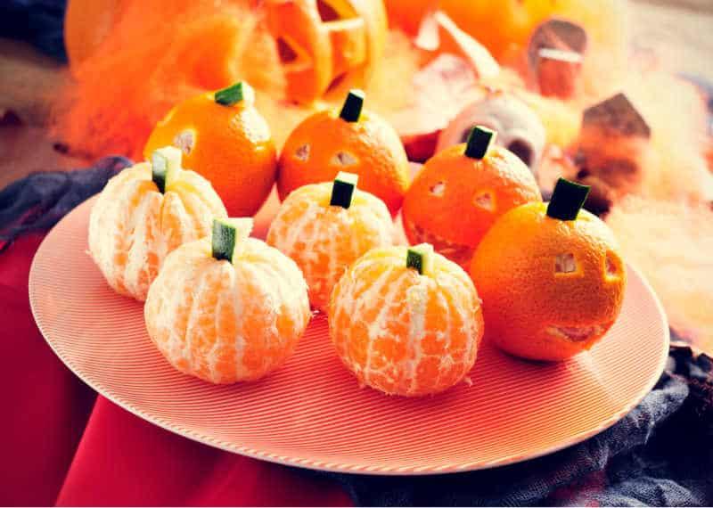 mandarin oranges pumpkins