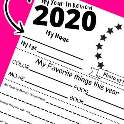 2020 year in review printable