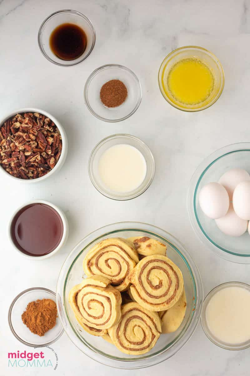 Cinnamon Roll French Toast Casserole ingredients