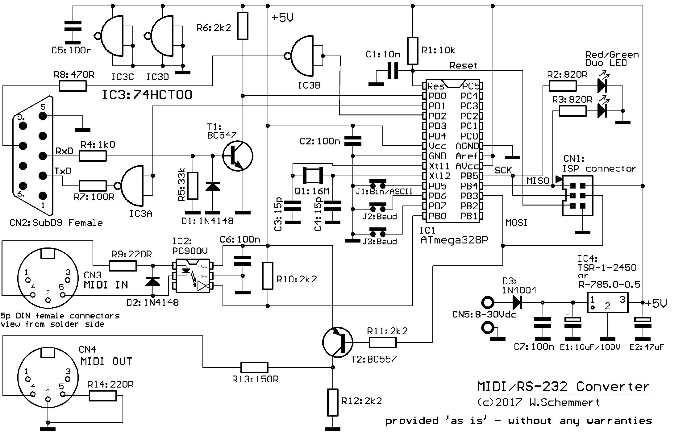 MIDI / RS-232 Converter