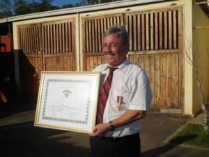 M Otto Frei a reçu la médaille de Chevalier de l'Ordre Malagasy. (Photo Manitrisa)