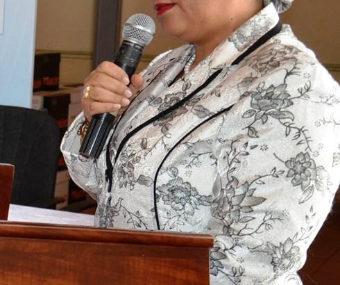 Atallah Béatrice : A l'Assemblée Générale du RECEF au Mali