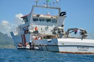 Le patrouilleur Atsantsa va bientôt prendre la relève d'un navire seychellois en mission.
